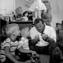 Dan Blocker with his sons when they were small children