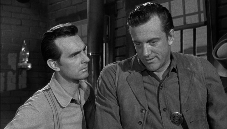 Chester played by Dennis Weaver, and Matt Dillon played by James Arness in Gunsmoke