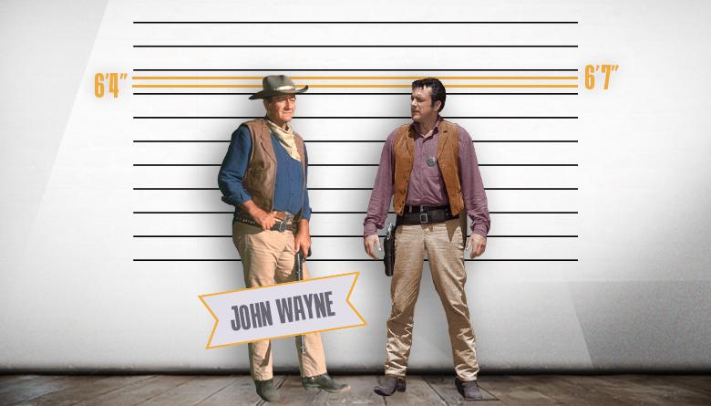 John Wayne and James Arness Height Comparison