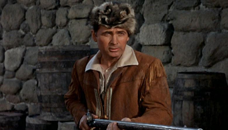 Fess Parker in Daniel Boone in Coonskin Hat